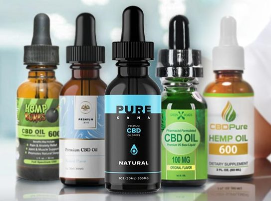CBD oil bottles