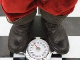 Santa on a scale